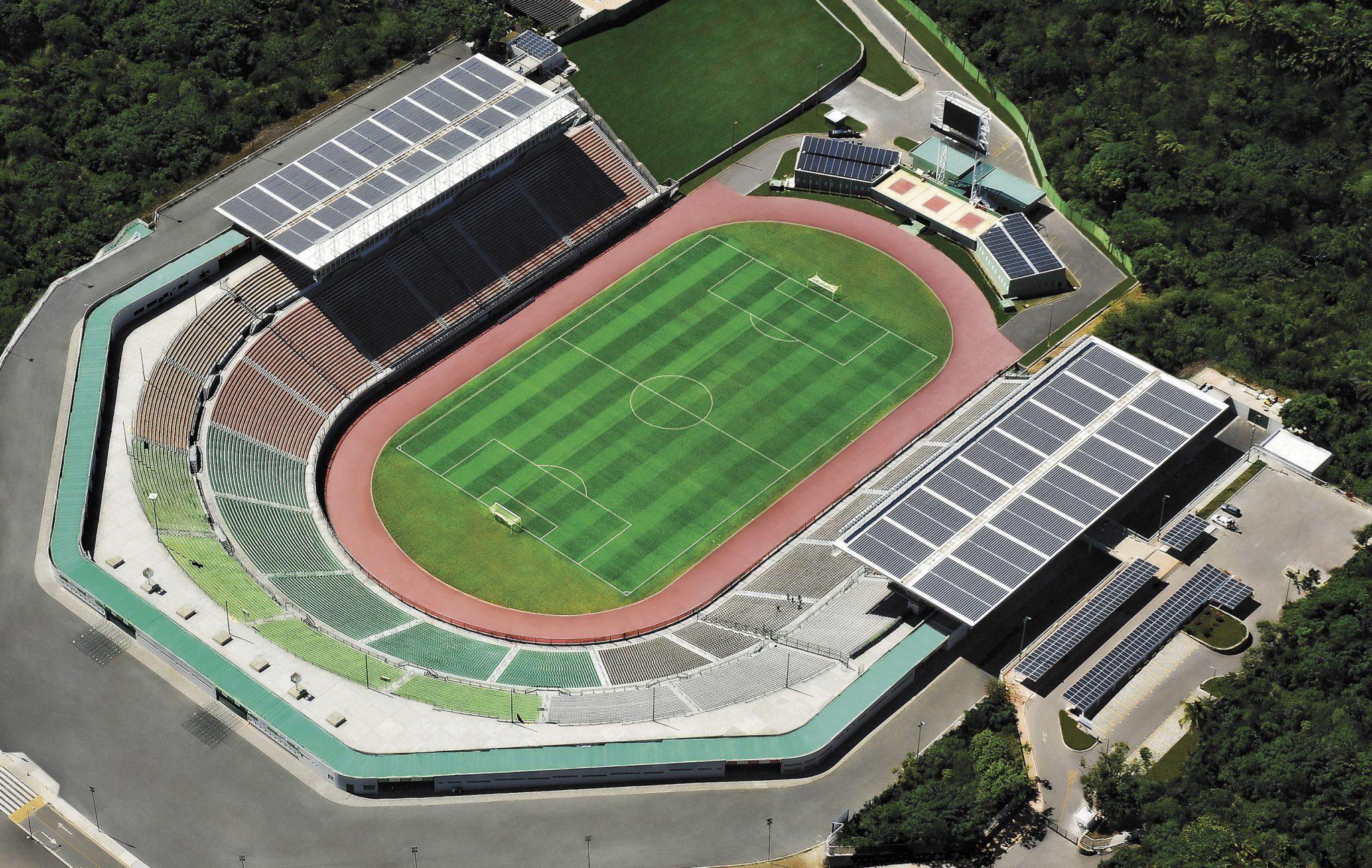 Foto aérea do Estádio de Pituaçu